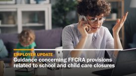 Guidance concerning FFCRA provisions related to school and child care closures