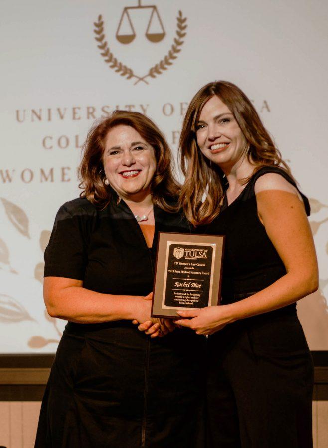 Rachel Blue receiving 2019 Fern Holland Award