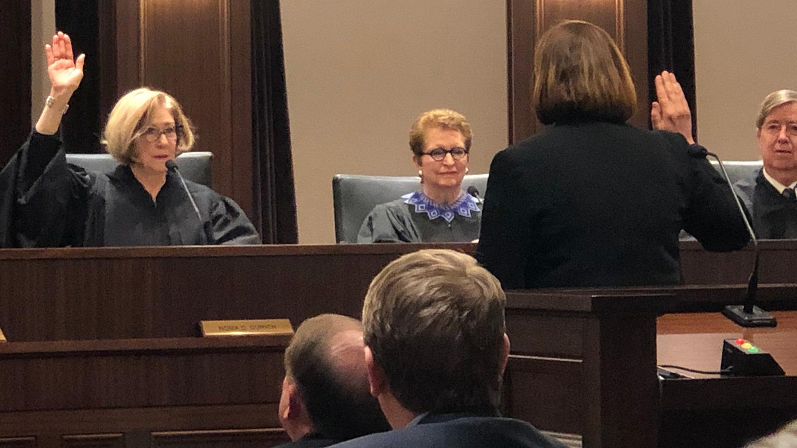 Susan Shields before judges