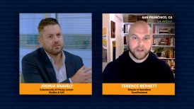 Cybersecurity attorney Joshua Snavely and cybersecurity expert Terence Bennett