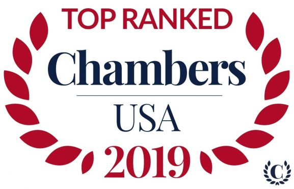 Top ranked in Chambers USA 2019
