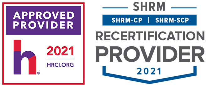 SHRM and HRCI approved provider