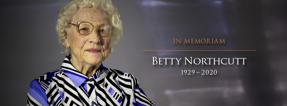 In Memoriam: Betty Northcut (1929-2020)