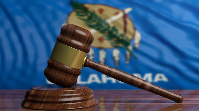 Oklahoma courts gavel