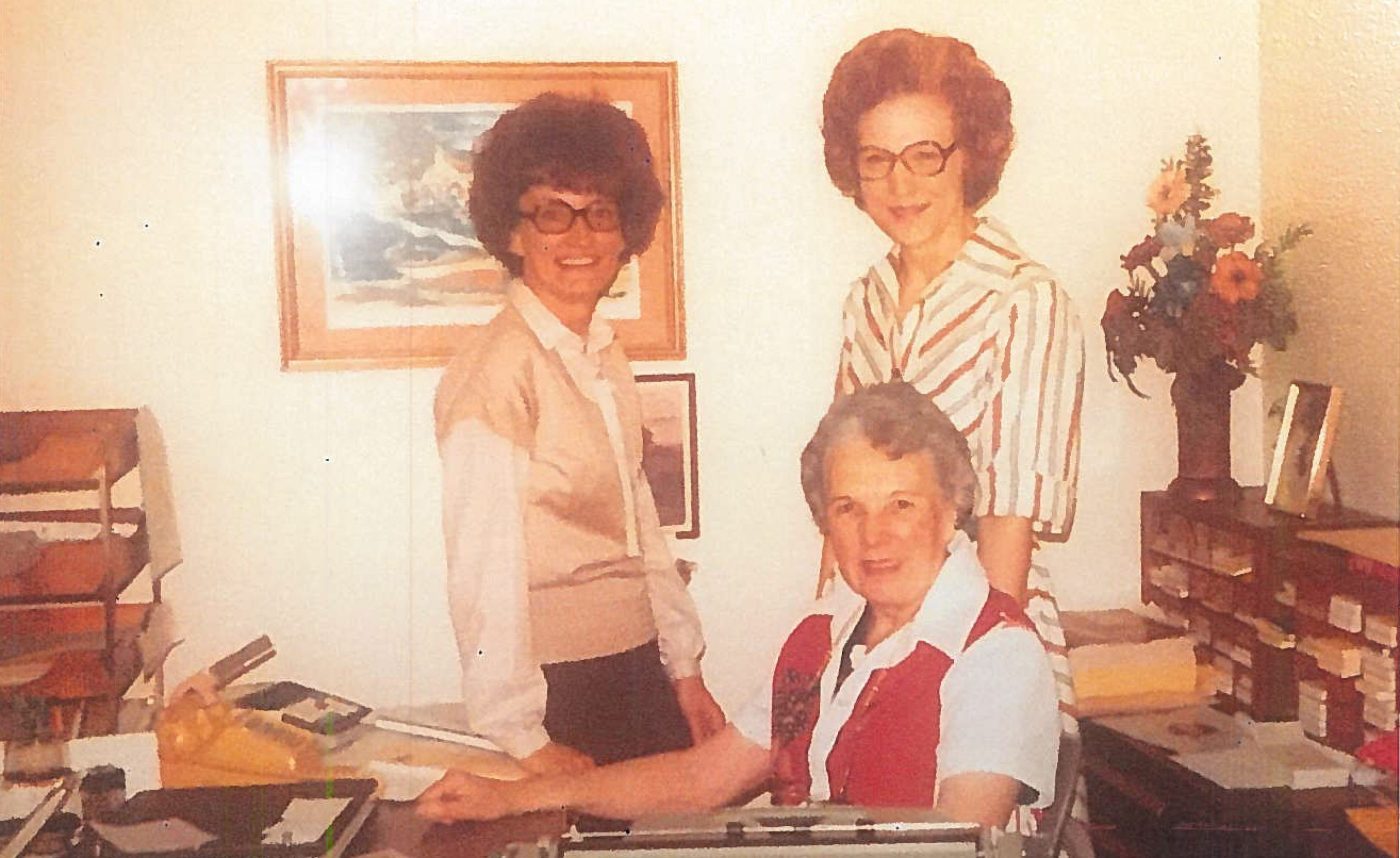 Judy Webb with Betty Northcutt and Miss Hanna