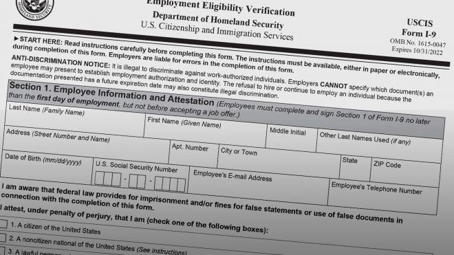 New Form I-9 (2020)