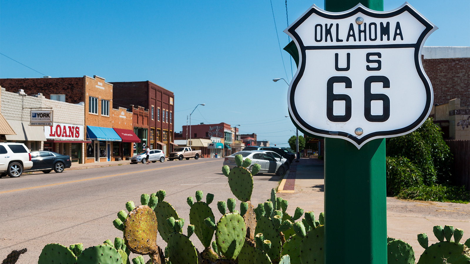 Along the historic Route 66 in the State of Oklahoma