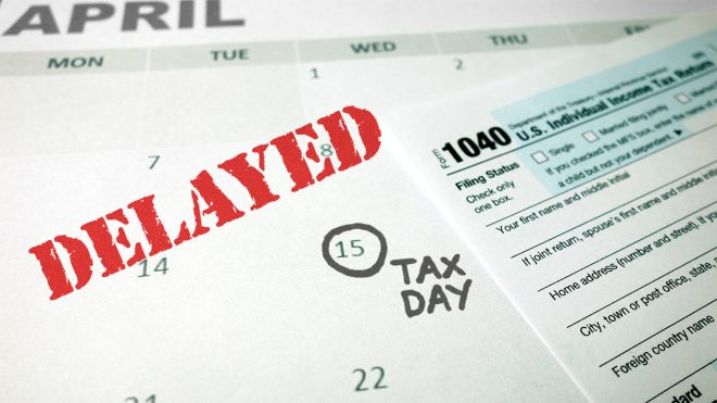 Federal Tax Day 2020 Delayed