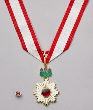 Lloyd Hardin — Order of the Rising Sun, Gold Rays with Neck Ribbon