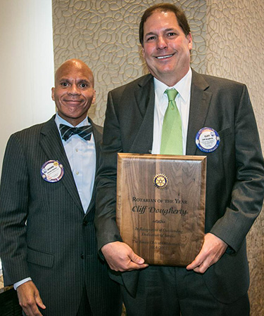 Hon. Jerome Holmes with Cliff Dougherty