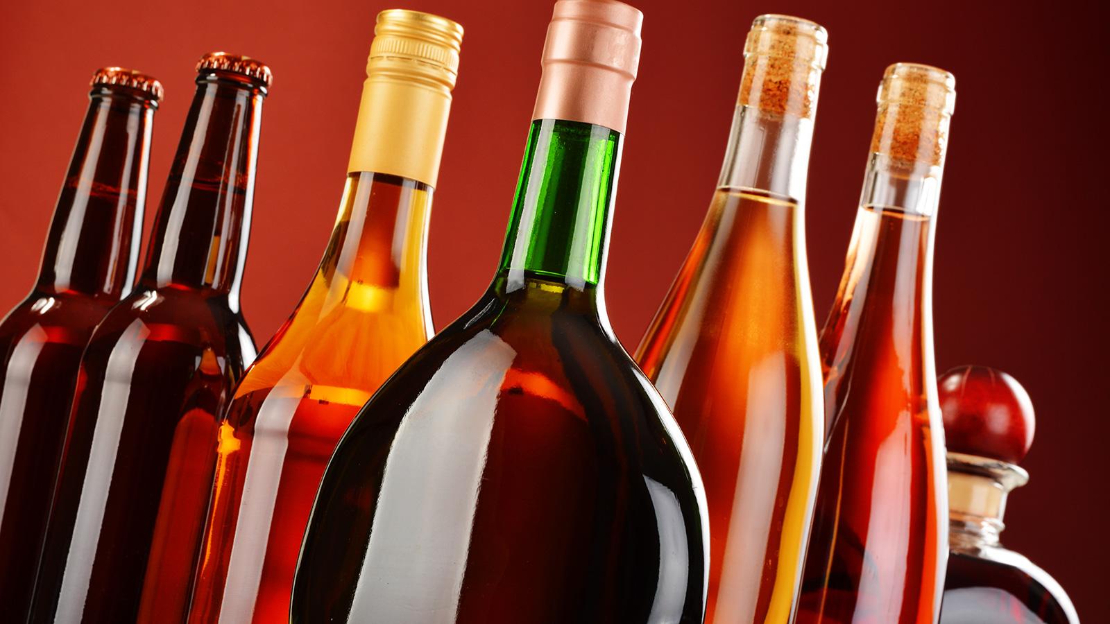 Beer and wine bottles