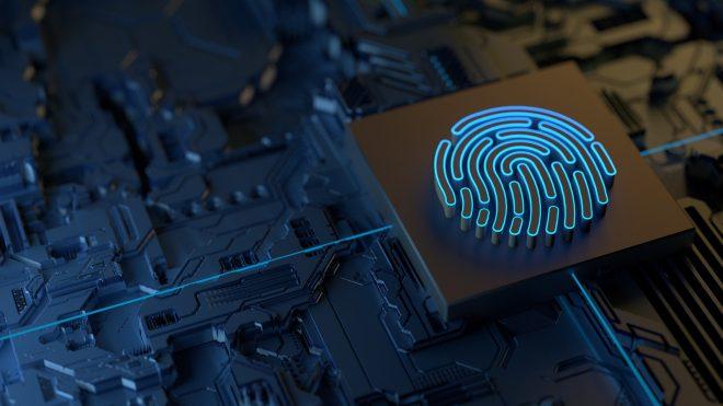 Digital fingerprint on a circuit board