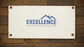 Excellence in Real Estate and Construction award plaque