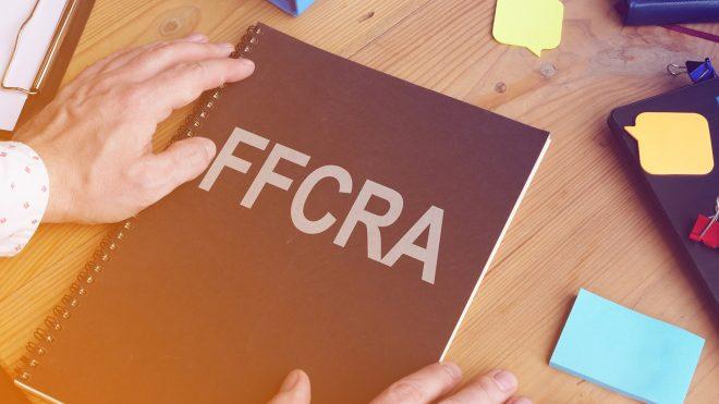 FFCRA label on folder