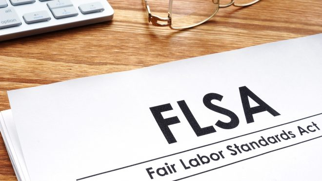 FLSA paperwork on desk