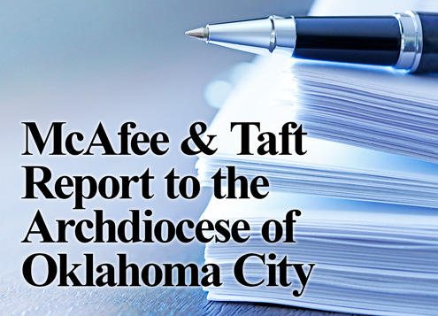 McAfee & Taft Report to theArchdiocese ofOklahoma City