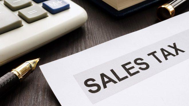 Sales tax document